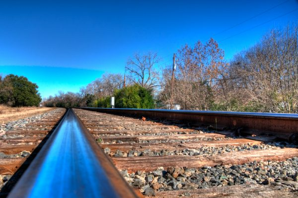 Shiny Blue Rails © 2010 Robert Barrett
