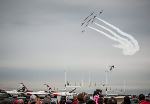 Canadian Snowbirds, © copyright 2012, Robert Barrett